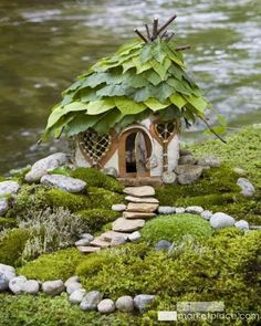 Fairy home... FB... make your own little fairy homes in your yard or garden, they become even more wonderful as they age... *~