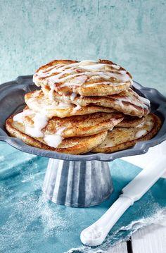 Diese Zimtpfannkuchen gehören unbedingt auf den Frühstücksteller!