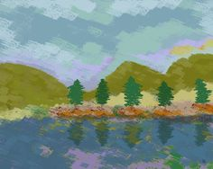 Lake Sensation Painting Print on Wrapped Canvas