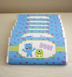 Instant Download  Chocolate Bar Wrappers  Monsters by SweetSnazzy, $8.00