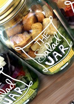 Tons of things you can make in a jar: Caesar salad for the lunch when you're out and about. Just shake and eat.