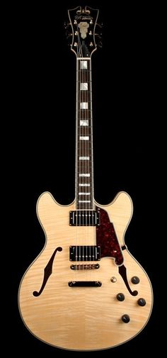 D'Angelico EX-DCSP Electric Guitar Natural