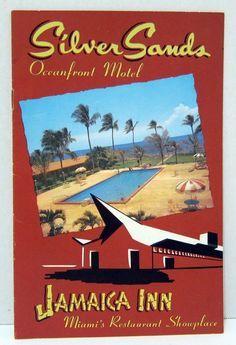Key Biscayne Miami, Jamaica Inn, Miami Restaurants, Hotel Motel, Vintage Florida, Print Advertising, Booklet, Baseball Cards, Sands