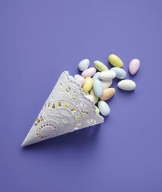 Paper Doily as Candy Cone