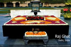 Raj Ghat, New Delhi: Raj Ghat is a memorial dedicated to Mahatma Gandhi and is located along the banks of the river Yamuna. Mahatma Gandhi was cremated here in a day after his assassination. An eternal flame burns at the memorial. It is mandator . New Delhi, Delhi India, Mahatma Gandhi, Mk Gandhi, Delhi Tourism, Jantar Mantar, Humayun's Tomb, India Gate, Visit India