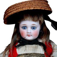 German Bisque Belton Child in Original Folklore Costume