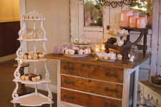 Country meets Anthropolgie-style in this wedding decor. Get the details >> http://www.greatamericancountry.com/living/lifestyles/sarah-darlings-rustic-bohemian-wedding-pictures?soc=pinterest