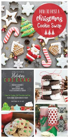 How to Host a Christmas Cookie Exchange-Invitations, recipes, packaging ideas and other tips Christmas Cookies Kids, Cookies For Kids, Holiday Cookies, Christmas Treats, Christmas Squares, Merry Christmas, Cookie Exchange Party, Christmas Cookie Exchange, Cookie Exchange Packaging