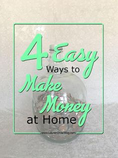 4 easy ways to make money from home for the stay at home mom