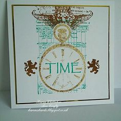 Time collection from Bee Crafty  #beecraftystamps #dtsample #pocketwatchstamp #heraldry #gildingflakes #stamps #creative #craft #ilovetocraft