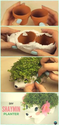 Terracotta clay pot hedgehog planter DIY clay pot garden … Check more at diy.weddingringst … Terracotta clay pot hedgehog planter DIY clay pot garden … Check more at diy. Diy Craft Projects, Diy Garden Projects, Garden Crafts, Diy Garden Decor, Diy Crafts Videos, Clay Projects, Diy Videos, Garden Decorations, Garden Ideas