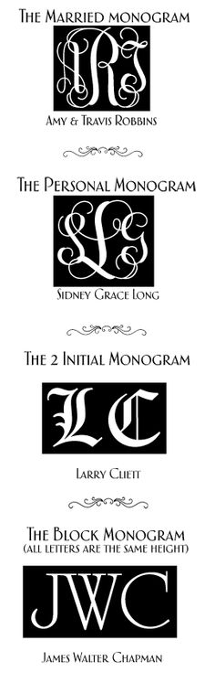 Here's how to create a proper monogram.