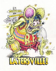 Johnny Ace Original Art RAT FINK Beatnik Bongo ED Big Daddy ROTH Monster KUSTOM…