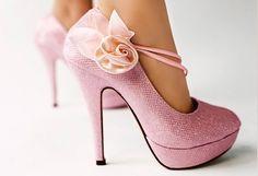 50d8f4a5debb Glitter Pink Leather Ankle Belt Silk Flowers High Heel Women Wedding Shoes