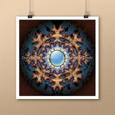 Astute Snowflake Mandala Art Print by Jeff Dufour 12x12 Square Metaphysical #Abstract