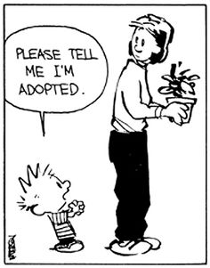 Calvin and Hobbes - Please tell me I'm adopted.