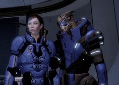 My in-game Mass Effect 2 Garrus and Female Shepard (Femshep) in Illium by dinglouisa
