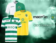 Sporting Lisbon Home, Away and Third Jerseys 2014/2015- Macron