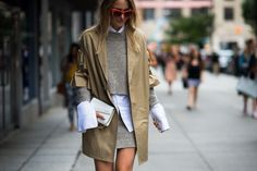 Look, No Hands  - New York Fashion Week Spring 2016 Street Style-Wmag