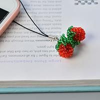 Wanna DIY some bead strawberry ornaments? In this Pandahall tutorial, you can learn how to make red seed bead strawberry phone hanging ornaments.