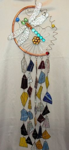 Making Stained Glass Wind Chimes | Custom Made Handmade Stained Glass Dragonfly Wind Chime