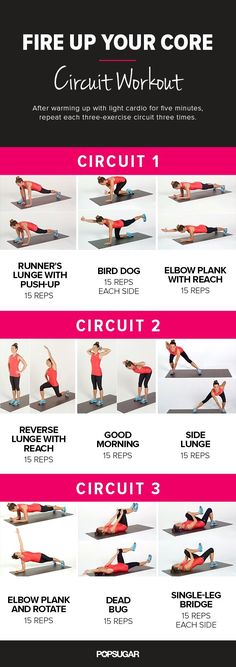 Good core workout, easy on the lombare spine. Really watch form and technique as not to create or sustain an injury (with any exercise). Square hips, squeeze core, breathe. Do as many reps as you are comfortable until you can build up. Enjoyed the variety