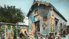 A mosaic-tiled house built by graveyard sweeper Raymond Isidore