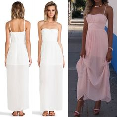 NWT Blaque Label White Maxi Dress Brand new with tags. Blaque Label Aurora Maxi Dress in White. Size Medium. Flattering corset style top with semi sheer skirt. Removable straps. Retail $135. Blaque Label Dresses Maxi