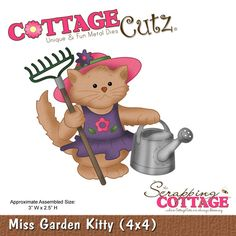 CottageCutz Miss Garden Kitty (4x4)