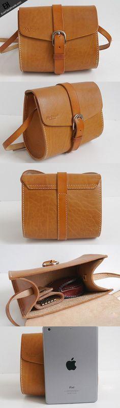 b080afb2db6ce Handmade vintage cut Leather Crossbody Bag