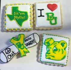 Baylor U graduation cookies! 2013
