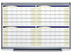 Many people with #BigPictureTime Style like to see four months of activity in one view - This 3 x 2' Dry Erase Board - 4 Month Calendar makes this style VERY happy!
