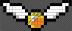 Ideas Embroidery Patterns Harry Potter Golden Snitch For 2019 Melty Bead Patterns, Pearler Bead Patterns, Perler Patterns, Pearler Beads, Beading Patterns, Embroidery Patterns, Art Hermione Granger, Harry Potter Perler Beads, Cross Stitch Harry Potter