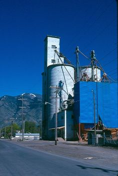 Logan Library - Historic Photo Collection: Silo. Date: about 1976. Address: 300 South 300 West Logan, Utah.