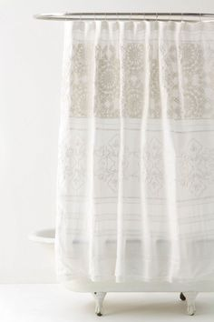 love this beautiful neutral shower curtain.
