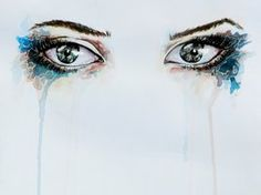 Staring eyes in watercolor by *IRSart on deviantART