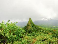Oahu Hawaii  Olomana Trail 3rd peak. [4032x3024]