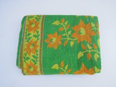 Indian Vintage Kantha Quilt Blanket Throw Made With by Labhanshi, $60.00