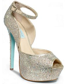 Blue by Betsey Johnson Kiss Platform Evening Sandals - Something Blue - Women - Macy's, $169