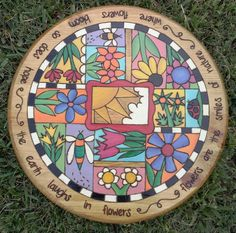 Lazy Susan  Laughs in Flowers by LoveHandlesChicks on Etsy, $150.00