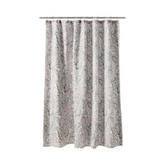 Target: Threshold™ Paisley Shower Curtain - Gray/Coral