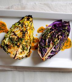 Grilled Cabbage Wedges with Spicy Lime Dressing via breannasrecipebox.blogspot.com  I would ditch the sugar and replace the canola oil with melted coconut oil, duck fat, or bacon fat.