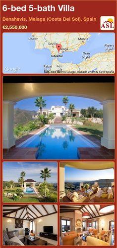 6-bed 5-bath Villa in Benahavis, Malaga (Costa Del Sol), Spain ►€2,550,000 #PropertyForSaleInSpain