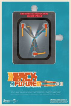 Back to the Future movie poster by Dave Polashock, via Behance