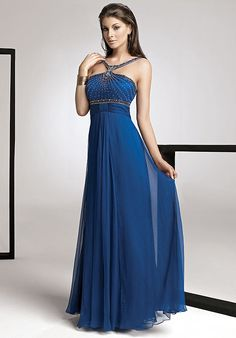 Online Sale Dreamlike Straps Beading Ruched Empire Waist Chiffon A-line Mother Of The Bride Dress (MBD-055)
