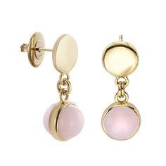 5d834d9927e8 Pendientes en plata y baño de oro rosa. Baño De Oro