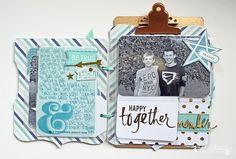 Project Life Gold Foil Kit mini album by @sarahbargo for @heidiswapp #heidiswapp #hsprojectlife #scrapbooking