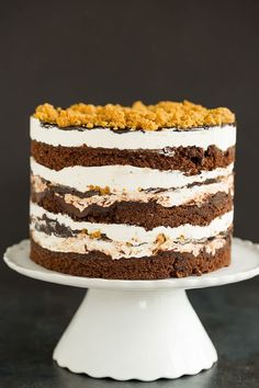 S'mores Layer Cake (Milk Bar style!) | Brown Eyed Baker