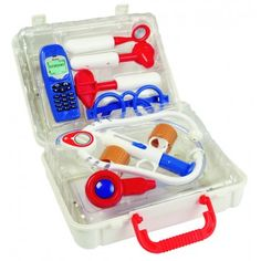 Play doctor with a complete Doctor Case. A stethoscope, glasses, mobile phone, syringe, bandages and more are included in this kit. AU$29.95 from Australian Gifts Online.