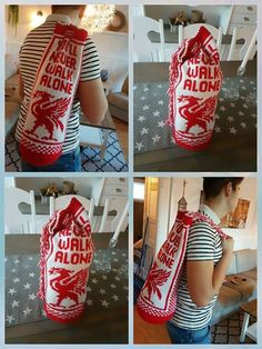 Babsy design YNKA ( you`ll never knit alone ) Liverpool Logo, Hobbies, Knitting, Bags, Design, Fashion, Handbags, Moda, Tricot